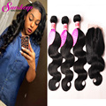 Brazilian Body Wave Virgin Hair With Closure Brazilian Virgin Hair With Closure 4 Bundles Mink Brazilian Human Hair With Closure