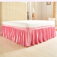 KISS QUEEN solid Elastic Band bed skirt without bed surface king queen twin size