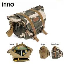 DSLR Digital SLR Camera Photo Bag Waterproof Canvas Shoulder Bag Shoulder Messenger Bag with Paitition Padded for Outdoor Travel