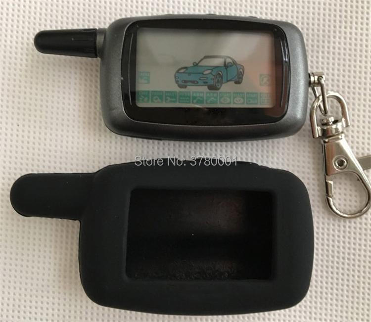 Wholesale <font><b>A9</b></font> LCD Remote Control Keychain + Silicone key Case for Russian Vehicle Security 2 Way Car Auto Alarm <font><b>StarLine</b></font> <font><b>A9</b></font> <font><b>Twage</b></font> image