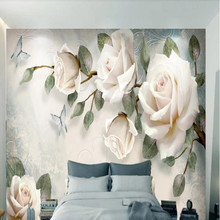 Private custom hand-painted oil painting flower European TV sofa living room bedroom background wallpaper mural цена 2017