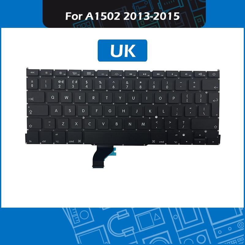 10pcs lot Laptop A1502 UK Standard Keyboard for font b Macbook b font Pro Retina 13