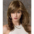 High Quality Long Straight  Blonde Color Capless Synthetic Hair Women's Wigs