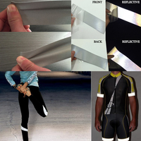 High Quality Double Side Reflective Elastic Fabric With Silver Color Free Shipping