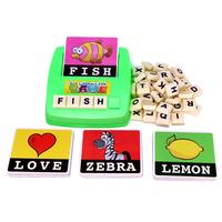 Spelling toy English Spelling Alphabet Letter Game Early Learning Educational Toy Kids Great gift for children freeshipping M4 4