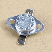 KSD301 105 градусов по Цельсию Нормально закрытый NC Температура управляемый коммутатор Термостат 250V 10A