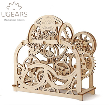 70pcs DIY Wooden Theatre Mechanical Transmission Model Assembly Puzzle Toy for Kids Xmas Gift