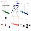 Di Visual Cellulari Set di 6 Pezzi Infantili Sensoriale Montessori Esercizio Educativi Neonato FAI DA TE Gobbi Ballerino Munari Mobile Giocattolo LT103-S3