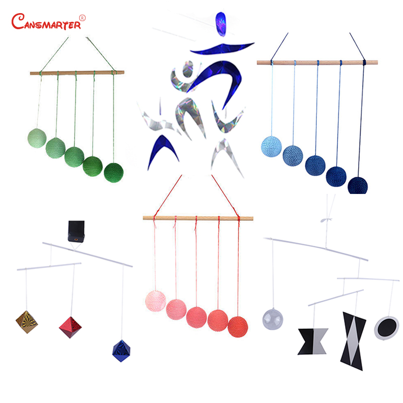 Visual Colour Sets 6 Pieces Infant Sensory Montessori Exercise Newborn Educational DIY Gobbi Dancer Munari Mobile Toy LT103