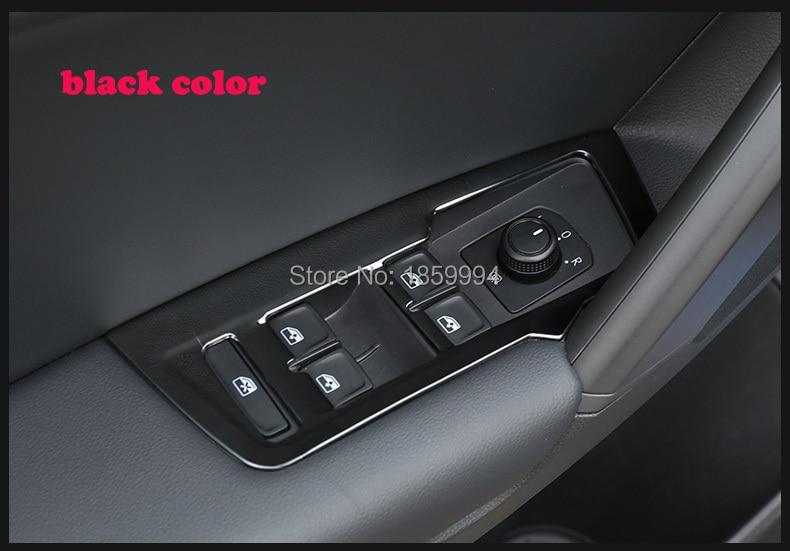 2017 için 2018 2019 VW Tiguan mk2 Allspace LHD KROM İÇ KAPI - Araç Içi Aksesuarları - Fotoğraf 3