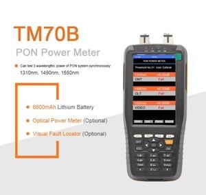 Image 2 - PON Optical Power Meter Với 1 mw VFL Và Optical Power Meter cho EPON GPON xPON OLT ONU 1310/1490/1550nm TM70B OV1