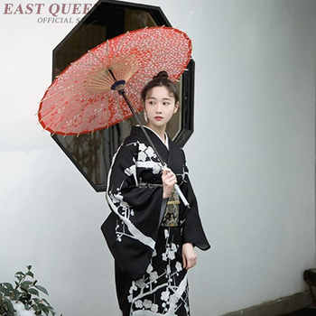 Japanese kimono traditional dress cosplay female yukata women haori Japan geisha costume obi kimonos woman 2018 KK2246