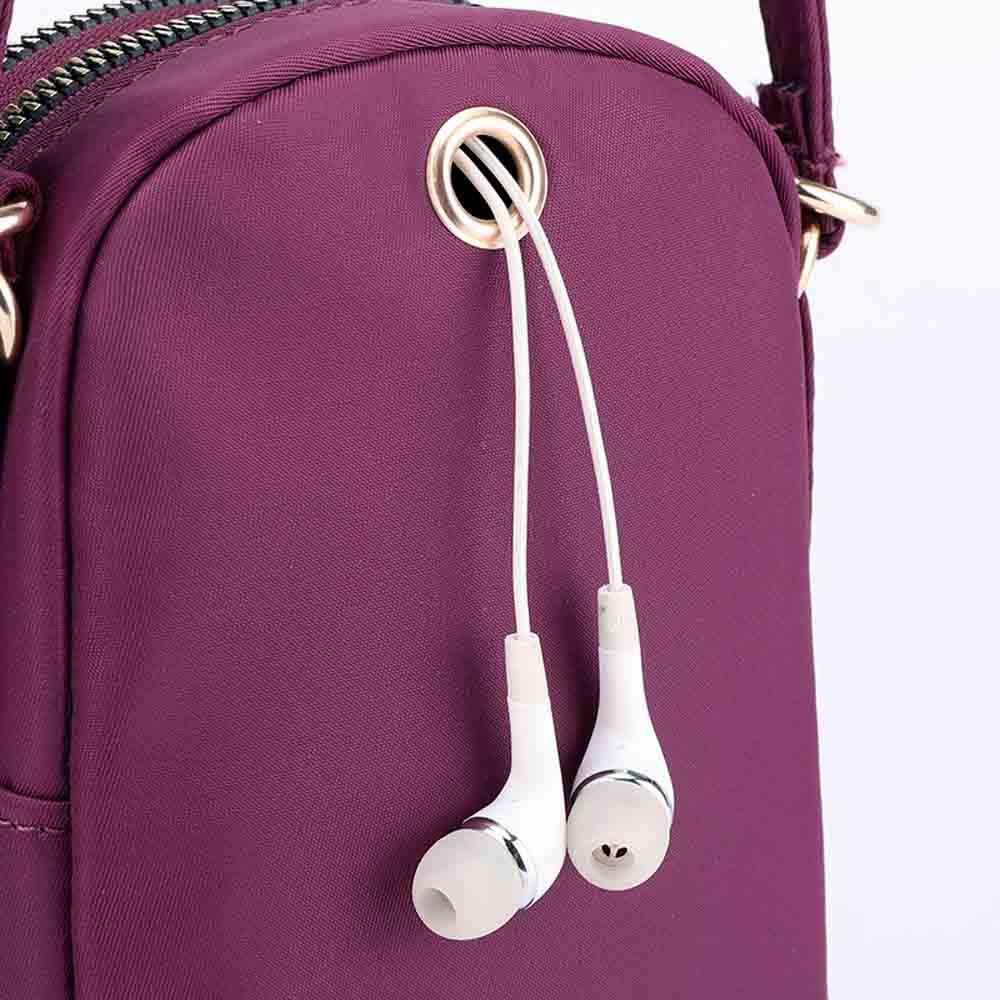 レディースバッグ軽量ナイロン携帯電話ヘッドセットショルダーメッセンジャータッシェン女性ボルサ masculina 嚢ファム bolsas デ mujer
