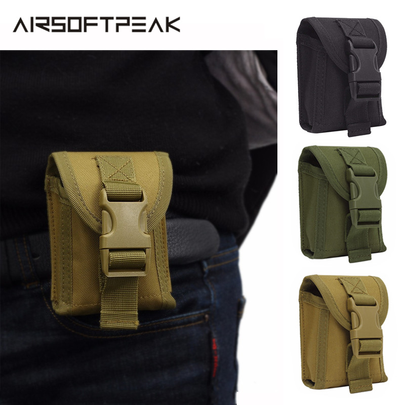 1000D Nylon EDC Waist Pouch Molle Belt Tactical Hunting Bag Outdoor Military Accessory Cell Phone Camp Pocket Waterproof Utility