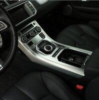 Хром Интерьер аксессуар для Range Rover Evoque 2011 2015 центральной консоли Панель отделкой