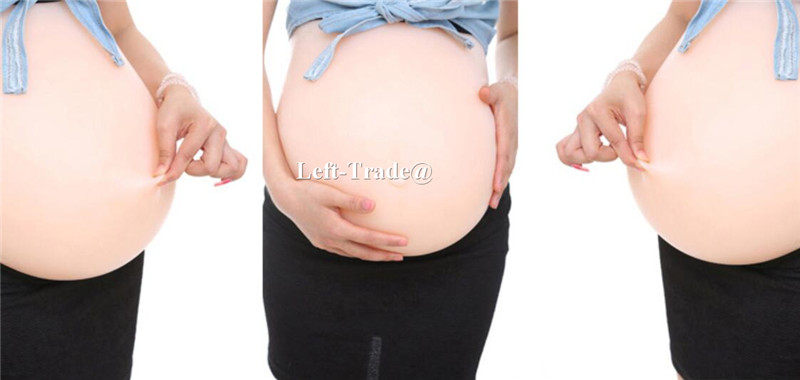 New Style Seamless Customized twins 5~6 month 4400g Artificial Baby Tummy, Fake, false Pregnant Bump, Silicone Belly