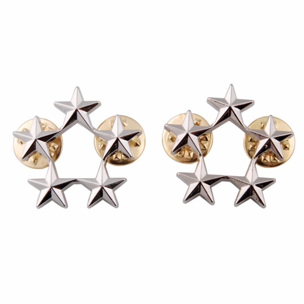 WW2 A PAIR OF US ARMY OFFICER 5 STAR GENERAL RANK BADGES PIN