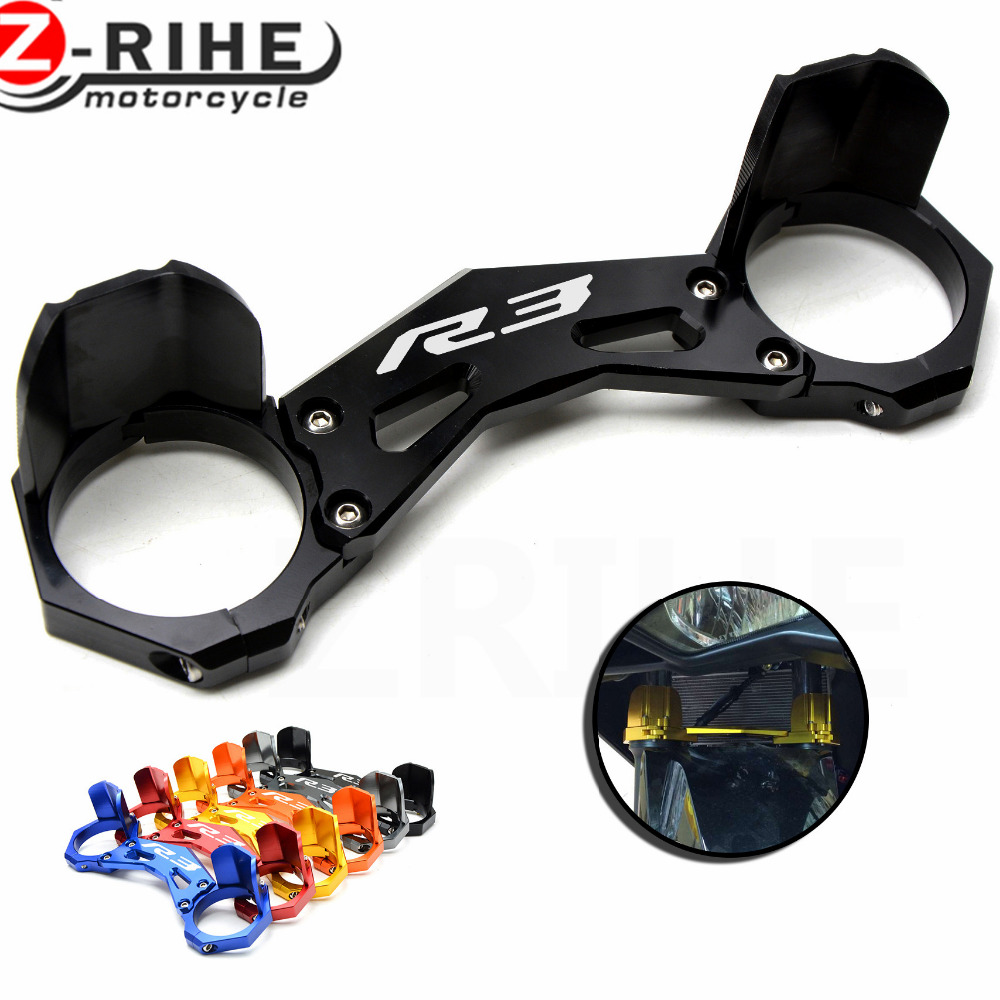 for yamaha yzf- r3 yzf r3 2015 2016 motorcycle carrying fork holder mounting frone fork bracket damping anti-friction protection yamaha dbr15