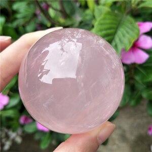 AAAAA высокое качество розовый кристалл сфера натуральный образец розовый кварцевый шар натуральный кристалл Целебный Камень, реики
