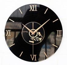 Classical antique 3D CD disc fashion vinyl record wall clock  Creative clocks home decor gift ideas vintage