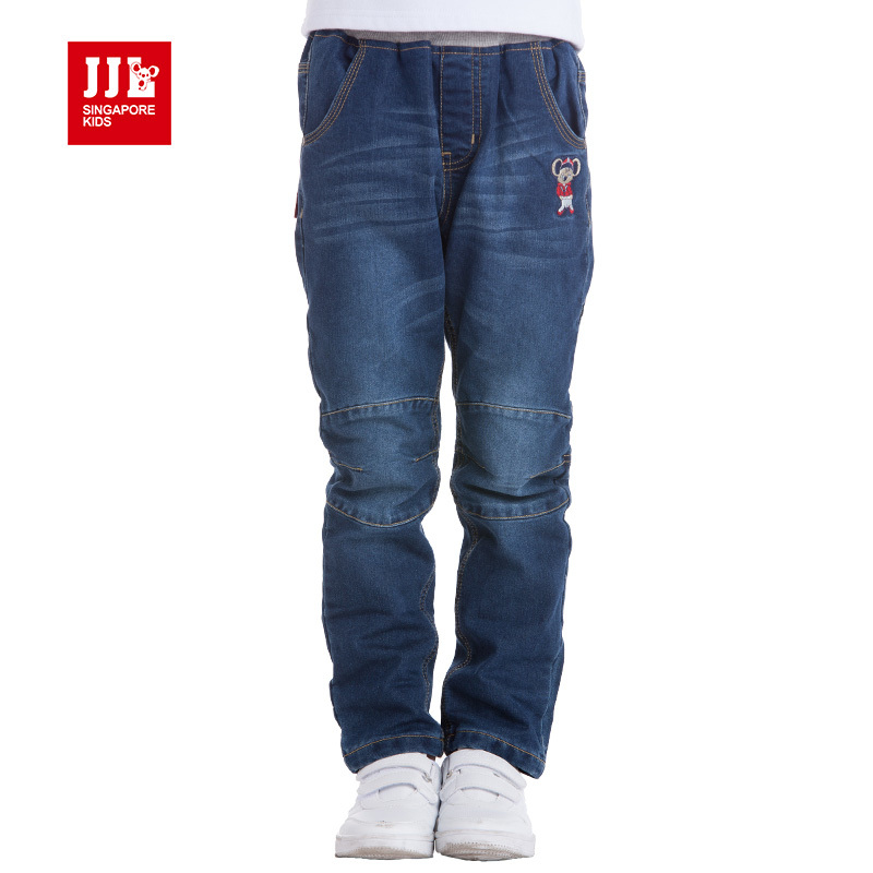 ФОТО boys jeans winter kids ripped jeans boys winter pants warm children trousers kids casual pants children clothing