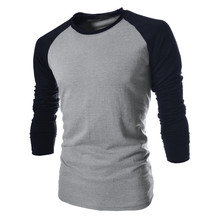 2019 Elastic Mens T Shirt O Neck Long Sleeve Men T Shirt For Male Big Size