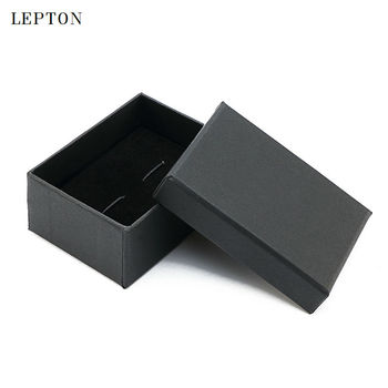 2017 Black Paper Cufflinks Boxes 30 PCS/Lots High Quality matte paper Jewelry Cuff links Carrying Case wholesale