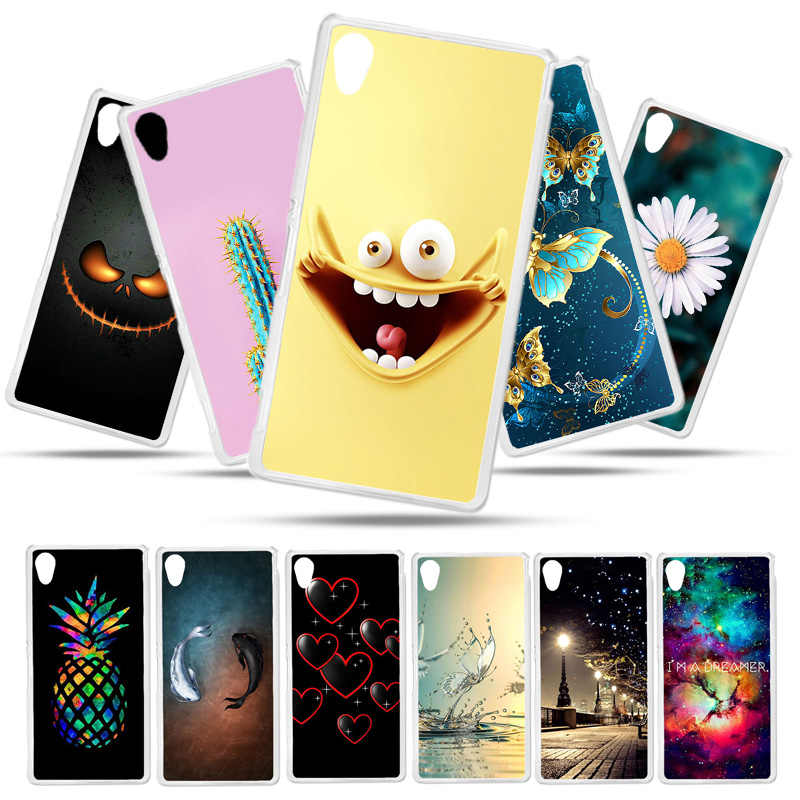 Bolomboy Painted Case For Sony Xperia M4 Case Silicone Soft TPU Cases For Sony M4 Aqua E2303 Cover Wildflowers Cute Animal Bags