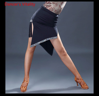 2018 New Body Skirt Skirt Square Dancing Dance Clothes Black Performance Skirt Pull Rope Safety Dance