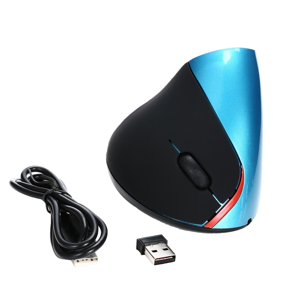 Image 4 - HXSJ A889 2400DPI Wireless Ergonomic Design Optical Vertical Mouse with 4 Buttons 1 Wheel Gaming Mouse-in Mice from Computer & Office