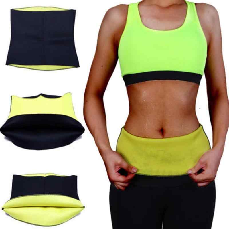 1PC ผู้หญิง Slimming เอวเทรนเนอร์ Thermo Shapers ออกกำลังกายยืดเอวรัดตัวเข็มขัดเหงื่อ Shaper Body สายรัดเข็มขัด