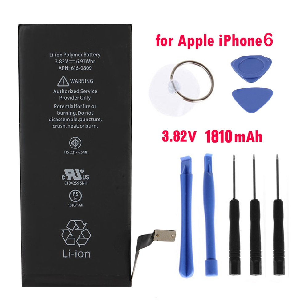 1810MAH High Capacity Mobile Phone Replacement Battery Internal Mobile Battery Phone Repair Kit Tools For Iphone 6