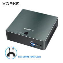VORKE V2 Plus Mini PC Ubuntu 16.04 Intel Skylake I7-7500U 8 GB RAM 256 GB SSD IEEE 802.11 ac WIFI Gigabit LAN HDMI USB 3.1 Tipo C