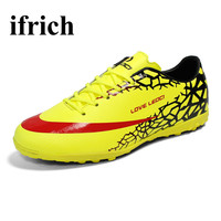 Ifrich Football Boots Turf Soccer Shoes For Men Boys Cheap Indoor Soccer Cleats Leather Soccer Training