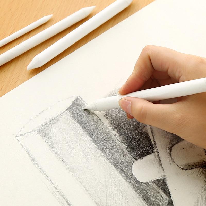 6pcs/set Blending Smudge Stump Stick Tortillon Sketch Art White Drawing Charcoal Sketcking Tool Rice Paper Pen Supplies 5