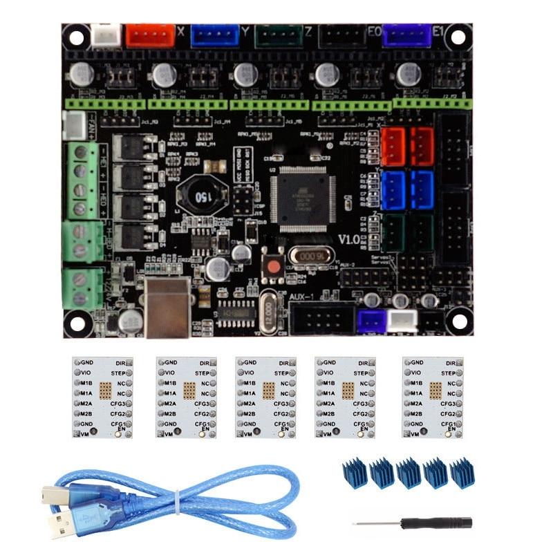 Discreet Nieuwe V1.0 Geïntegreerde Controller Moederbord + 5 Stks Tmc2100 V1.3 Stappenmotor Driver Compatibel Ramps1.4/mega2560 R3 Voor 3d Printer