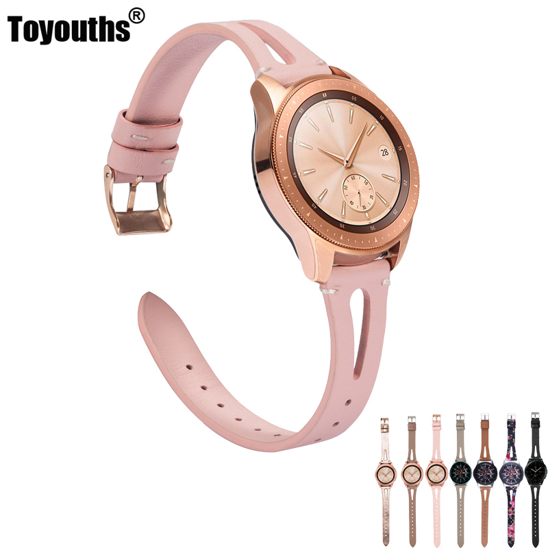 Leather Strap For Samsung Galaxy Watch 42mm 46mm Bands Genuine Leather Wristband Replacement For Galaxy Watch Active Galaxy