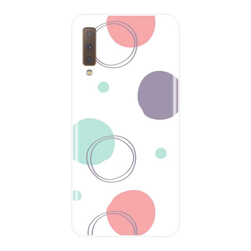 Etui na telefony do Samsung Galaxy A6 A8 Plus 2018 przypadku silikonowe sztuki Graffiti tylna pokrywa dla Samsung A3 A5 2016 2017 A6 A7 A8 2018