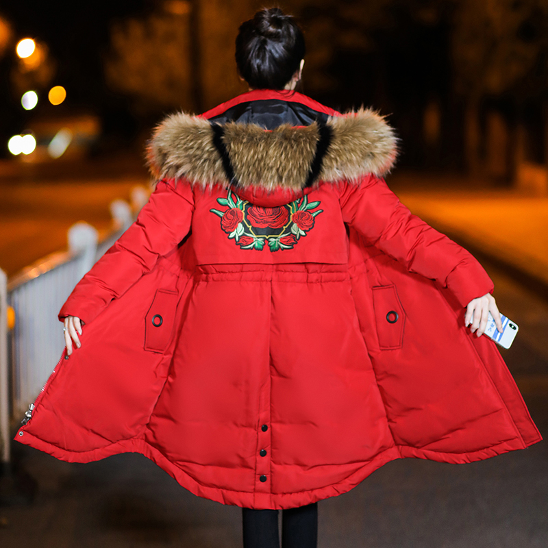 Winter Jacket Maternity Down Cotton Padded Warm Outwear Parkas Women Maternity Colorful Fur Hooded Thick Coat Pregnant Clothes new 2017 winter cotton coat women slim outwear medium long padded jacket thick fur hooded wadded warm parkas winterjas cm1634