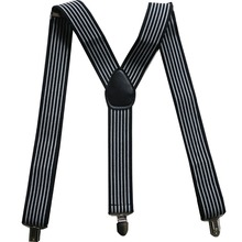 Free Shipping 2017 New Male Adjustable 3.5cm Wide Black White Striped Suspenders For Mens