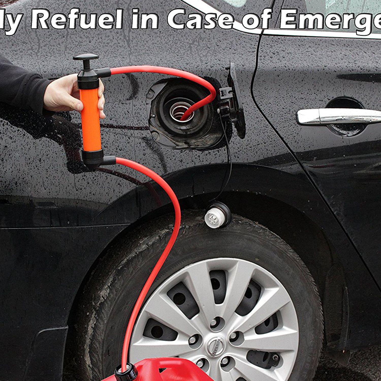 다목적 사이펀 이송 펌프 키트, 딥 스틱 튜브 포함 | 오일, 가솔린, 물, liqui 용 유체 연료 추출기 흡입 도구