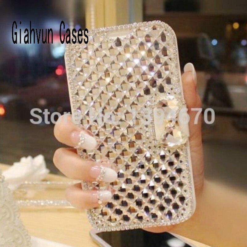 imágenes para Bling Diamante De Cristal de colores Del Soporte Del Tirón Del Cuero Para Samsung Galaxy S3 S4 S6Edge S7Edge S5 S6 S7 S8 Borde más Nota 3 4 5 caso