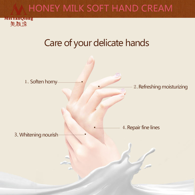 Milk Honey Repair Hand Cream Moisturizing Anti-Aging Skin Whitening Hand Cream Skincare Nourishing crema de manos Winter 5