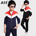 A15 Boy Tracksuits Brand Children's Sports Suit for Boy Long Sleeve Jacket Pants 2 Piece Kids Clothes Set Toddler Boy Size 8 12