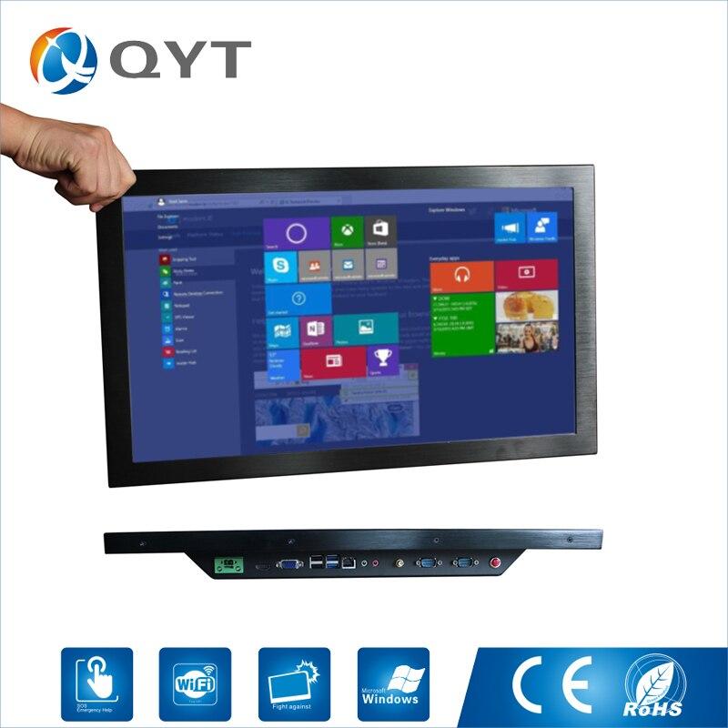 22 промышленный компьютер Intel Core i3 6100u 4 * USB 8 ГБ DDR4 128 ГБ SSD промышленного Интимные аксессуары Сенсорный экран все в одно касание ТВ PC