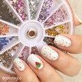 12 Cores Triângulo Forma Pedrinhas Nail Art Glitter 2mm #4112