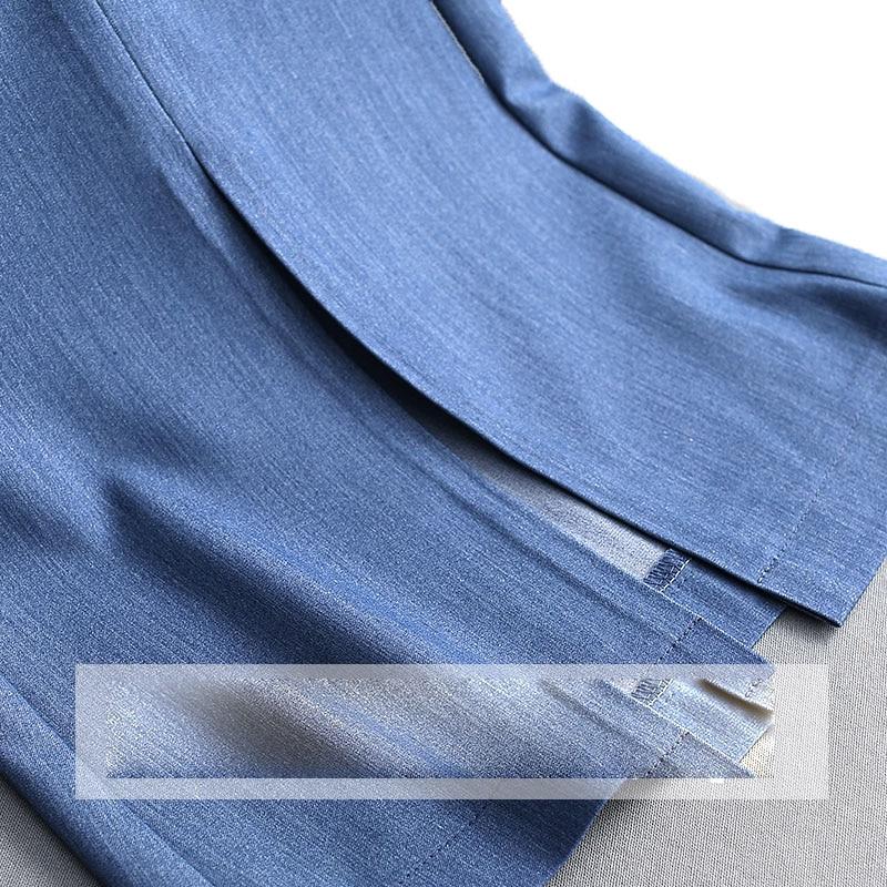 Las Largos Nueva Split Pantalones 2019 Azul Casual Verano Denim Color Bikini Cintura Para Mujeres Alta Primavera Elástica Blue qH7S0zxf