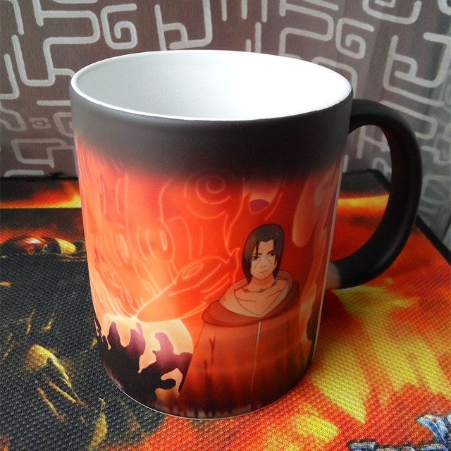 Naruto Sasuke vs Itachi Uchiha Heat Color Changing Coffee Tea Mug
