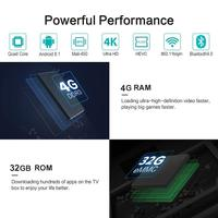2018 Т9 4 гб 64 гб rk3328 4 ядра смарт Android 8, 1 тв bluetooth4 коробка.0 Н2.65 4 к 2, 4 ггц/5 ггц беспроводной телеприставки медиа-плеер