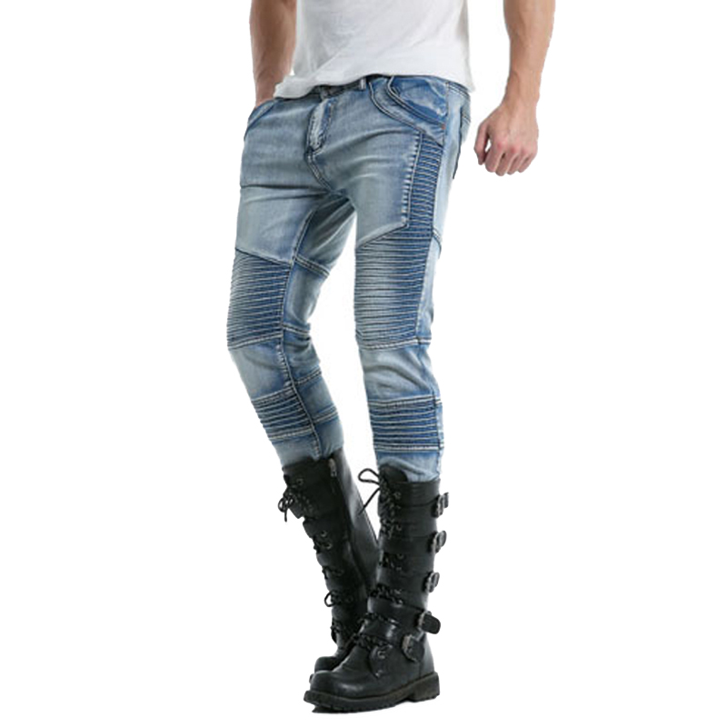 New Fashion Mens Long Pants Drawstring Slim Fit Stretch Cotton Denim Skinny Jeans Jogger ...